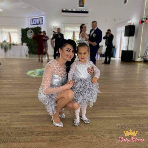 Ekskluzywne sukienki MAMA& CÓRKA pióra- mama