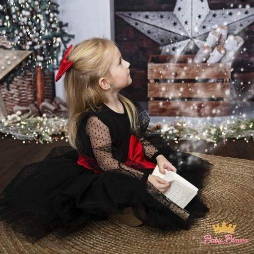 Sukienka Czarna MAMA&CÓRKA – córka