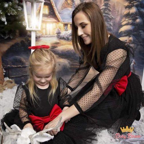 Sukienka czarna MAMA&CÓRKA – mama