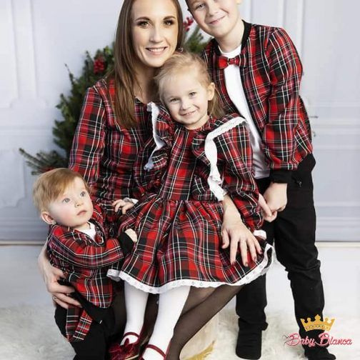 Sukienka Szkocka Krata 2- mama