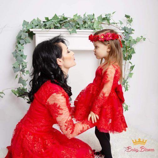 Sukienka koronkowa MAMA&CÓRKA – mama