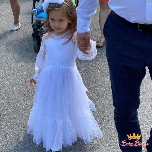 Sukienka Długa w kropeczki